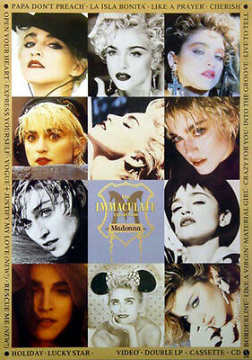 Madonna - The Immaculate Collection (1990) original promo poster s-sided rolled