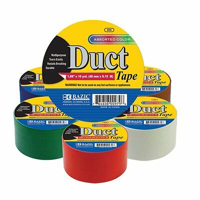 Coloured DUCT TAPE 48mm x 9.15M RED blue BROWN GREEN BLUE WHITE