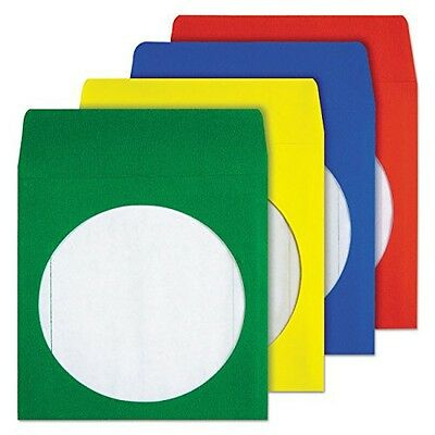 Quality Park CD/DVD Envelopes, Assorted Colors, Pack of 50 (68905)