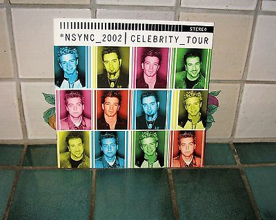 Nsync 2002 Celebrity Tour Program (Justin Timberlake) + Promo Pictures