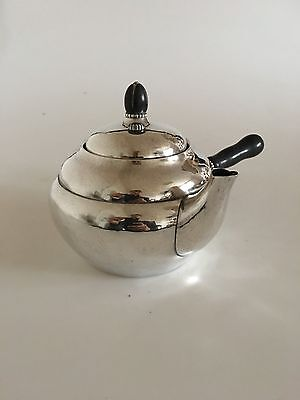 Georg Jensen Sterling Silver Tea Pot #1A With Ebony