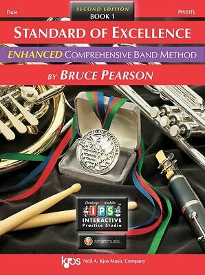 Bruce Pearson: Standard of Excellence Enhanced Book 1 Flute + Audio - Kjos PW...