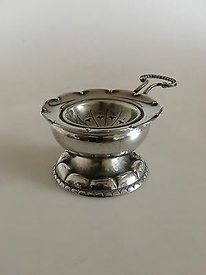 Georg Jensen Sterling Silver Tea Strainer and Tea Strainer Holder #34