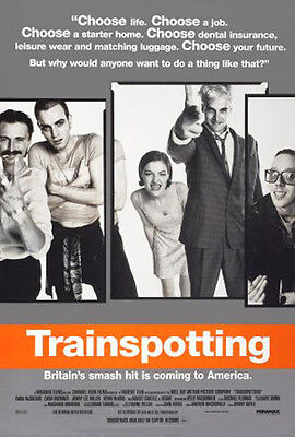 Trainspotting (1996) movie poster reproduction single-sided rolled