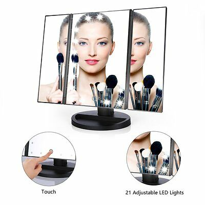 Easehold 21 LED Illuminated Makeup Touch Screen Tabletop Cosmetic Vanity Mirror
