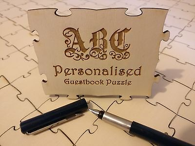 Personalised Puzzle Wedding Guestbook