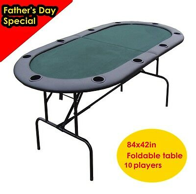 84x42in foldable Poker table for 10 players