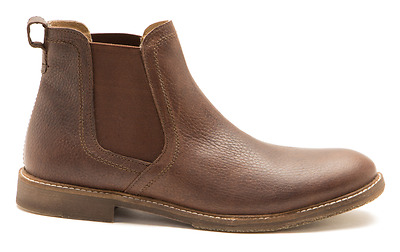 Mens Red Tape Ashton Milled Brown Leather Chelsea Ankle Boots Sizes UK 7 - 12