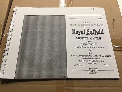 Royal Enfield 1954 500 Twin Parts List 119 (3-54)