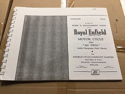 Royal Enfield 1954 500 Twin Parts List 56-00119 [3-86]