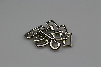 snap hook clips 4 x 25mm Medium Weight horse rugs steel/nickel plated SS spring