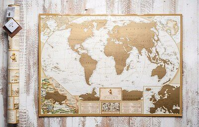 Scratch Off World Map Poster Traveler Antique New Scratch Map Gift Travelling