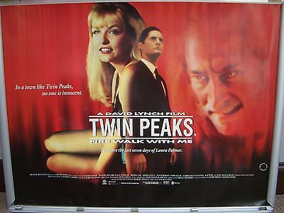 twin peaks fire walk with me ROLLED 1992 uk quad cinema film poster David Lynch