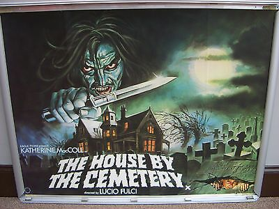 the house by the cemetery 1981 uk quad cinema film poster Lucio Fulci nr mint