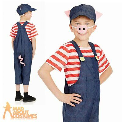 0a9bca56295 Three Little Pigs Costume Childs Boys Girls Pig Book Week Day Fancy Dress  Outfit