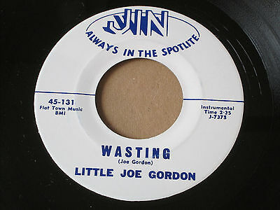 "LITTLE JOE GORDON Wasting / Can't Have Your Love BLUES R&B JAZZ 7"" HEAR Jin"
