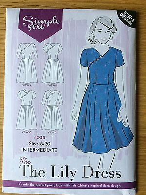 Brand New Simple Sew Lily Dress Sewing Pattern, Sizes 6-20