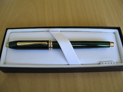 Cross Townsend Fountain Pen - Translucent Green Lacquer - Uninked.