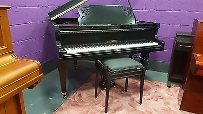"""Reconditioned,Black,""""Eavestaff"""" Baby Grand Piano.PLAYING ON YOU TUBE.Can deliver"""