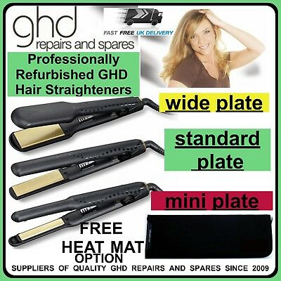 GHD Hair Straighteners, Refurbished 6 Month Warranty With Free Heat Mat option