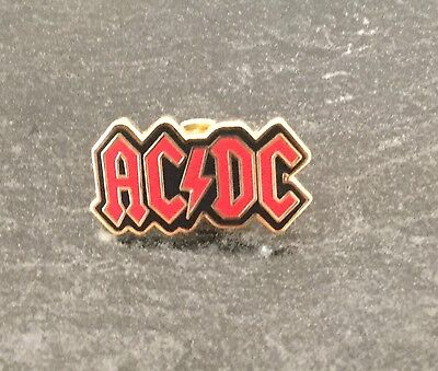 Acdc Red And Black Enamel Pin Badge - Very Rare & Collectible