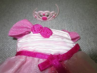Groovy Girls Clothes Pink Princess Gown Tiara Crown    Lot Z14