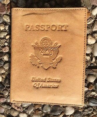 Genuine  Leather US Passport Holder And Travel Wallet
