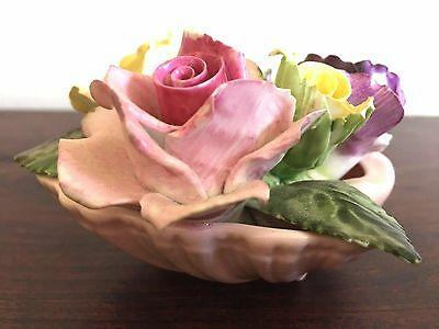 Adderlay Floral Bone China Made In England Oyster Shell with Porcelain Roses