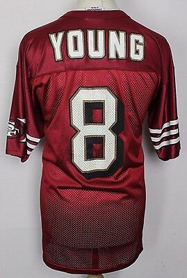Young #8 San Francisco 49Ers American Football Jersey Mens Large Logo Athletic