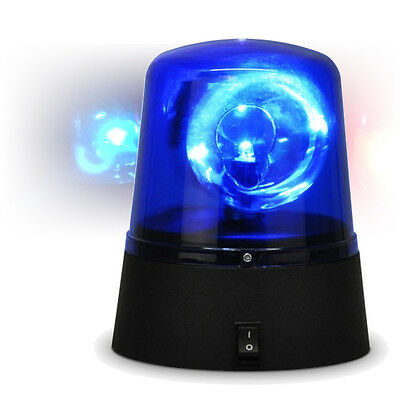 Rotating Blue LED Police Car Beacon Siren Warning Light Disco Party Strobe