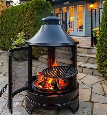 Northwest Outdoor Fire Pit BBQ Cooking Grill Log Burner Steel  Patio Heater