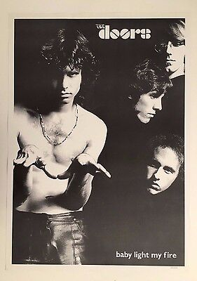 THE DOORS, 'BABY LIGHT MY FIRE, AUTHENTIC 1980's POSTER