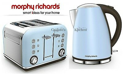 Kettle and Toaster Set Morphy Richards Accents Jug Kettle & 4 Slot Toaster Blue