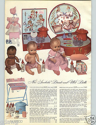 1952 PAPER AD Doll Sunbabe Amosandra Amos Andy Rubber Babee Bee Cindy Lee