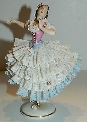 Germany Large Ballerina Lace Figurine