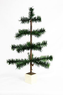 "Antique German 18"" Feather Christmas Tree ca1910"