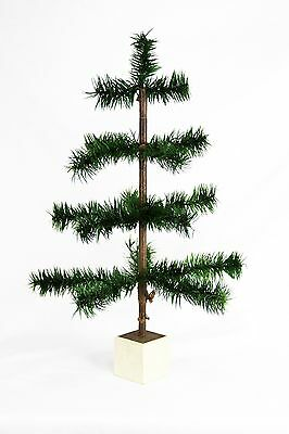 """Antique German 18"""" Feather Christmas Tree ca1910"""