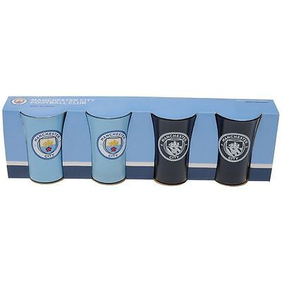 Manchester City Set of 4 Football Shot Glasses