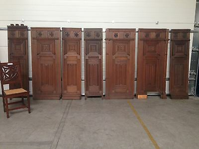 Antique French Renaissance Architectural Wall Panels in French Oak 19th Century