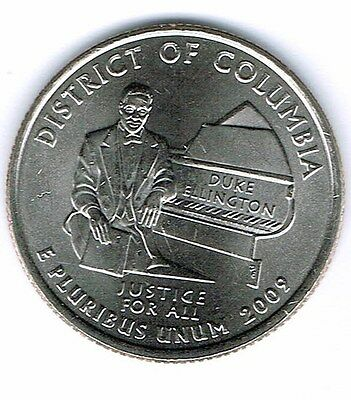 2009-P Brilliant Uncirculated District Of Columbia Quarter Coin!