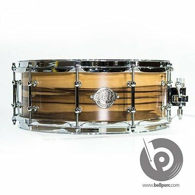 """Evetts 14"""" x 5.5"""" Spotted Gum Ply Snare Drum (Natural Satin)"""