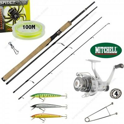 Pack Complet Leurre Voyage, Canne 2M10 7-25Gr + Mitchell Tanager Rz 2 000 Rd + 1