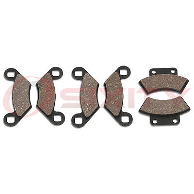 Front + Rear Organic Brake Pads 1991-1992 Polaris Trail Boss 250 2x4 Set nb
