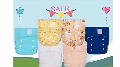 CLEARANCE! 100 KaWaii Baby Newborn Pure & Natural Cloth Diapers+200 Inserts