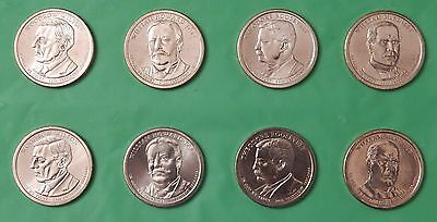 2013 US Presidential Dollar Set 4 P&4 D From Mint Rolls