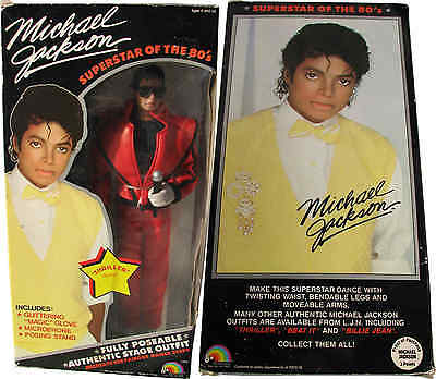 Michael Jackson Poupée Figure THRILLER Outfit Doll Puppe TOY NEW in Box USA 1984