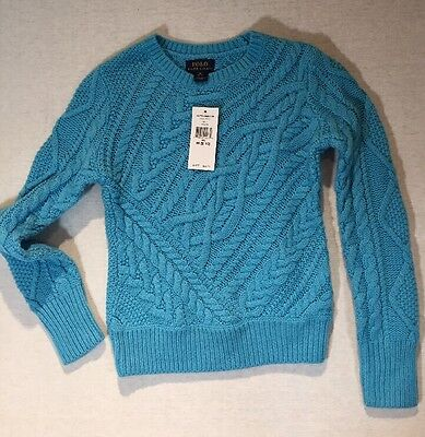 Children's Polo Ralph Lauren Turquoise Cable Knit Sweater M (8-10)