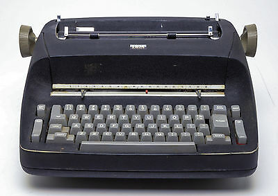 IBM Selectric Black Typewriter with IBM logo cover