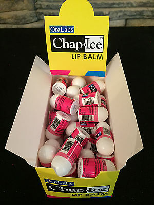 50 pcs  Mini Lip Balm Chap Ice Bulk Cherry Flavor- Bulk Lot Wholesale
