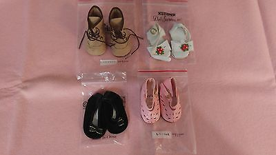 "NEW-DOLL SHOES - 4 Pairs fit 18"" Doll such as American Girl Dolls or OTHERS"